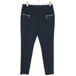 Ivanka Trump skinny leg trouser dress pants navy